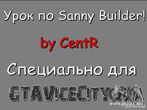 La lección a Sanny Builder v3.04