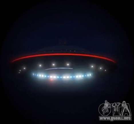 GTA V platillo Volador (OVNI) sobre la montaña Chiliad