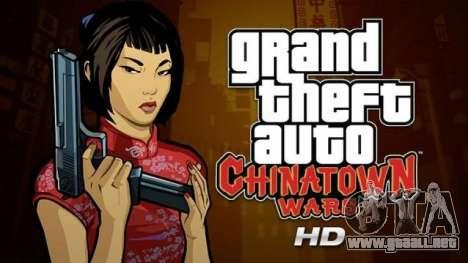 Comunicados de GTA para el iPad: Chinatown Wars
