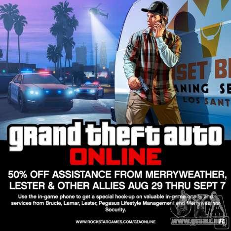 GTA Online: menos del 50% en servicios VIP