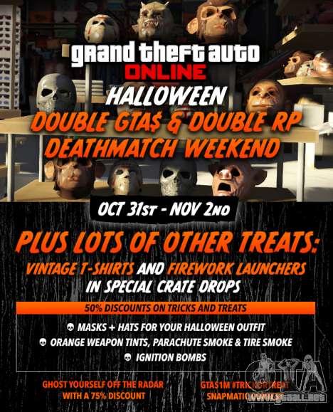 la fiesta de Halloween en el GTA Online: bonos, concursos