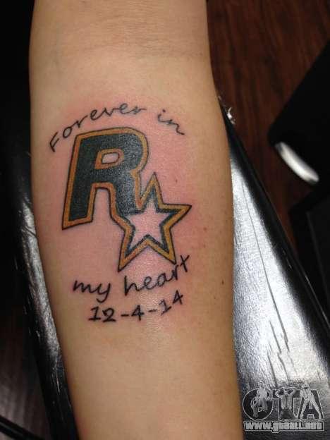 Rockstar Games Tatuaje