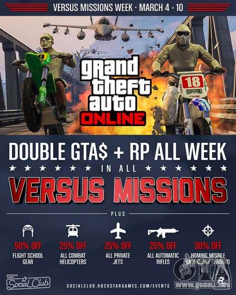 Frente a la Semana de Misiones en GTA Online