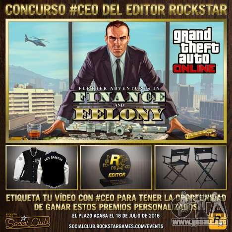 #CEO de Rockstar Editor concurso