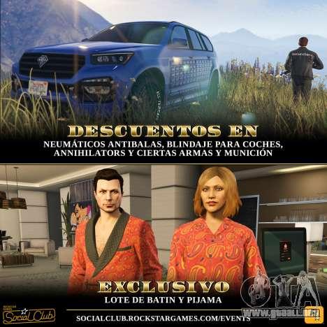 contenidos Exclusivos y ofertas especiales en GTA Online