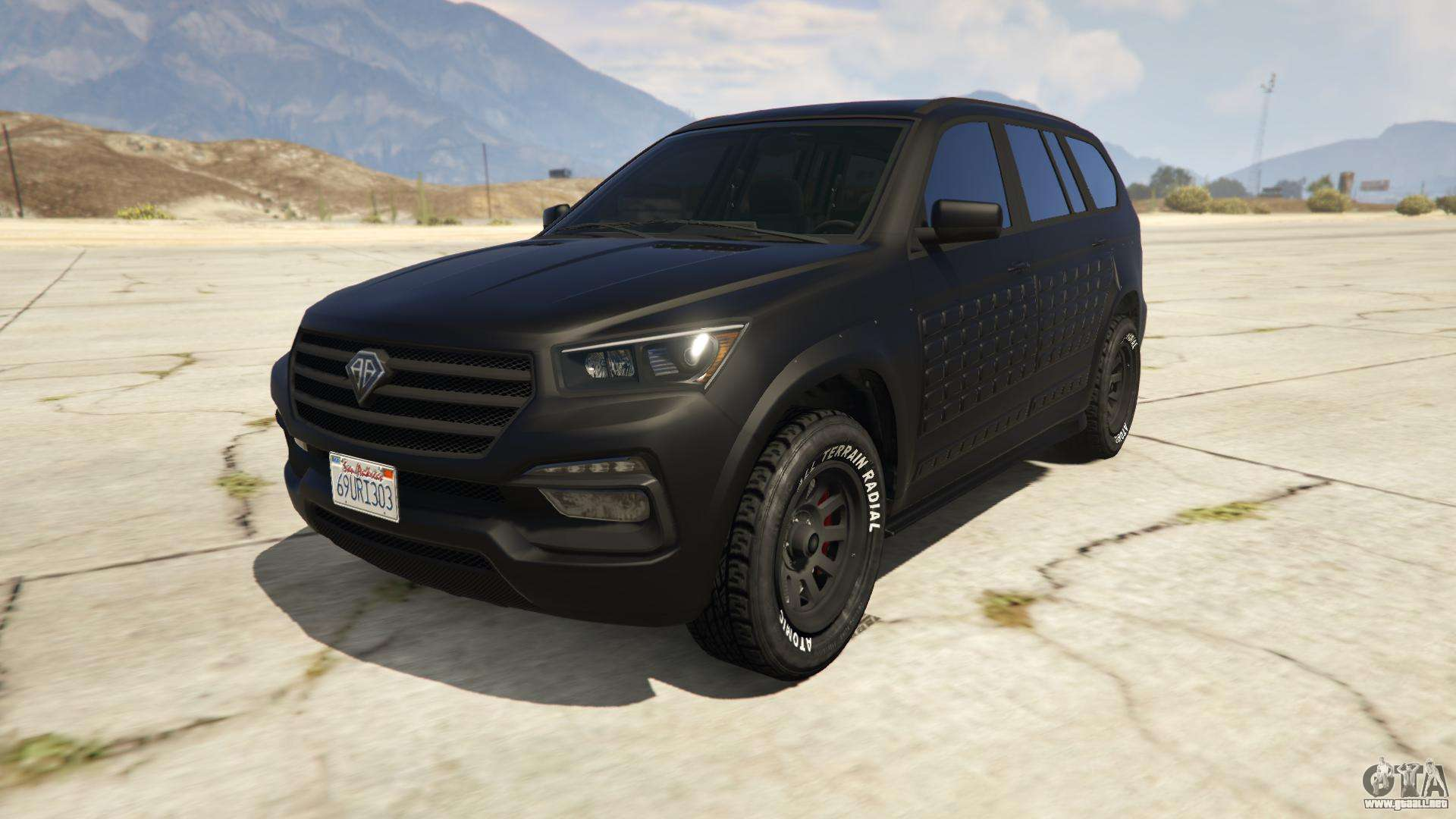 Benefactor XLS (Armored) de GTA Online - vista frontal