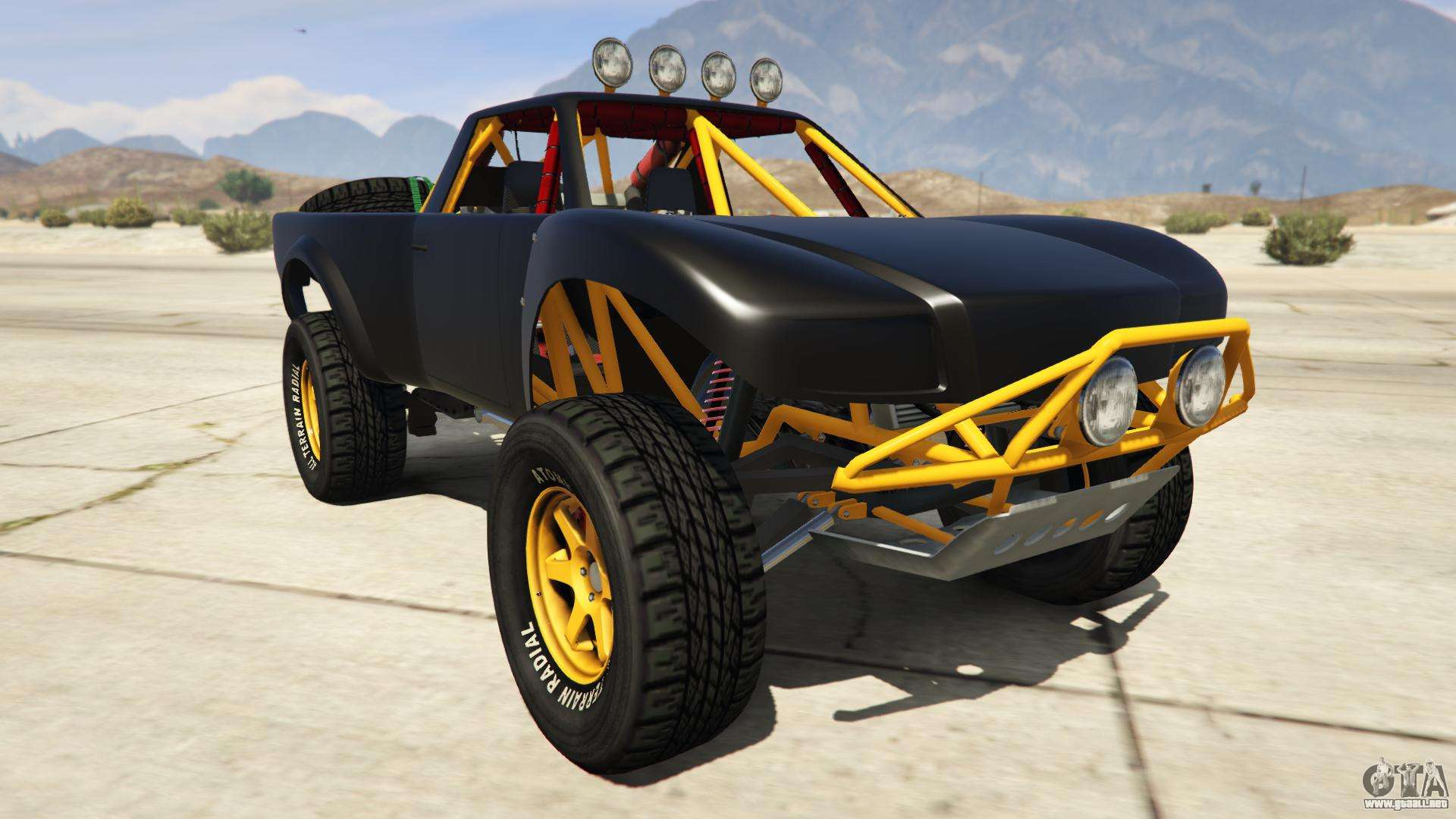 Vapid Trophy Truck de GTA Online - vista frontal