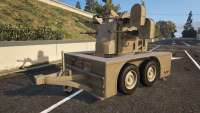 Anti-Aircraft Trailer de GTA 5 vista frontal