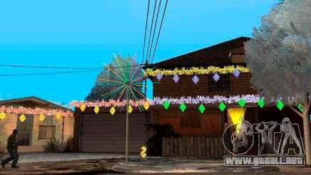 Decoración de la navidad en GTA San Andreas