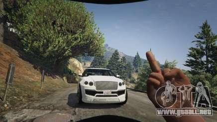 El dedo medio en el GTA 5