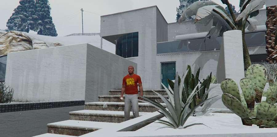 Pelea de bolas de nieve en GTA 5