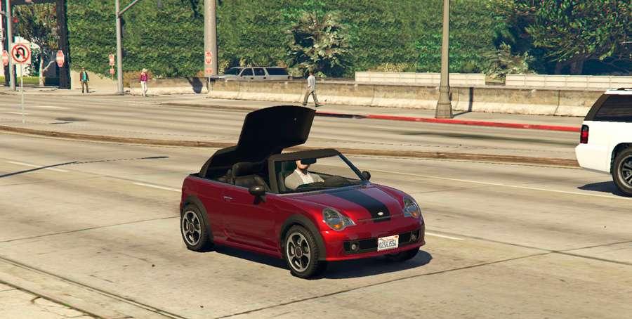 Para cerrar el techo del coche en GTA 5