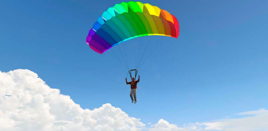 Cómo abrir el paracaídas en el GTA 5