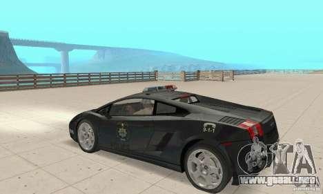 Lamborghini Gallardo Police para la visión correcta GTA San Andreas