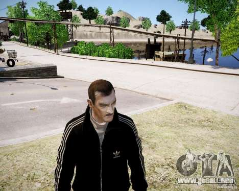 Old Niko para GTA 4 adelante de pantalla