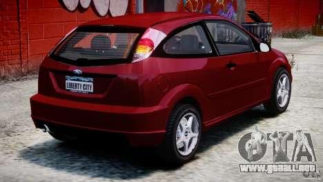 Ford Focus SVT para GTA 4 Vista posterior izquierda