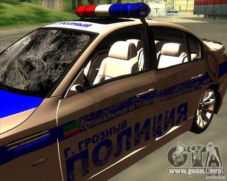 BMW M5 E60 policía para vista inferior GTA San Andreas