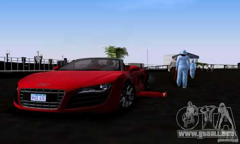 Audi R8 Spyder para la visión correcta GTA San Andreas