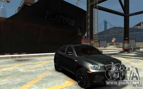 BMW X6 M para GTA 4 vista hacia atrás