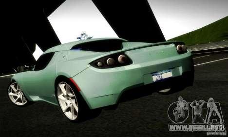 Tesla Roadster Sport para GTA San Andreas vista posterior izquierda