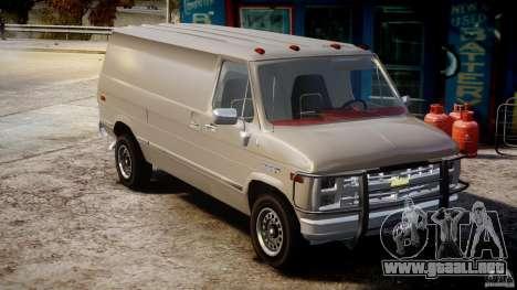 Chevrolet G20 Vans V1.1 para GTA 4 visión correcta