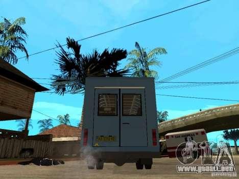 Ruta de gacela para GTA San Andreas vista posterior izquierda