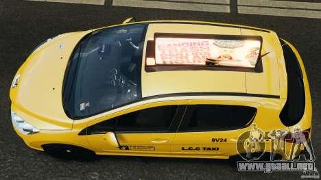 Peugeot 308 GTi 2011 Taxi v1.1 para GTA 4 visión correcta