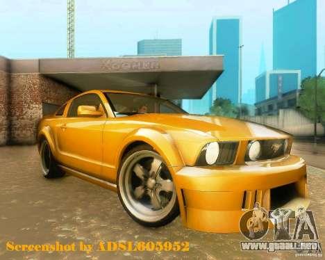 Ford Mustang GT 2005 Tunable para GTA San Andreas left