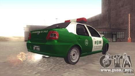 Fiat Siena Carabineros De Chile para GTA San Andreas left