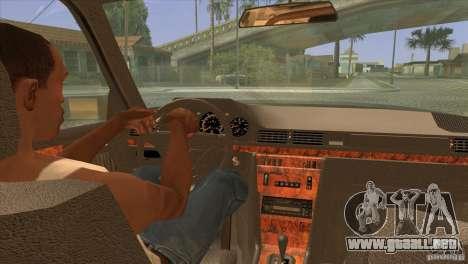 Mersedes-Benz E500 para la vista superior GTA San Andreas
