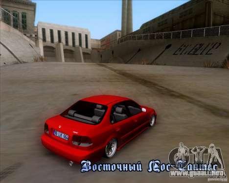Honda Civic 16 LK 664 para la vista superior GTA San Andreas