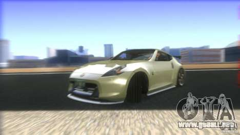 Nissan 370Z Drift 2009 V1.0 para vista inferior GTA San Andreas
