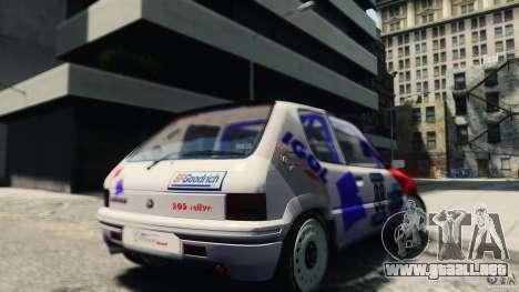 Peugeot 205 Rally para GTA 4 Vista posterior izquierda