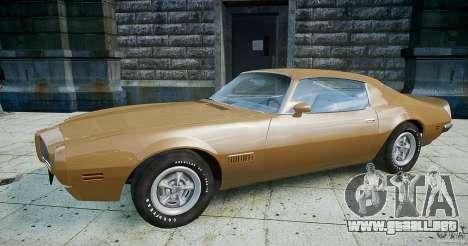 Pontiac Firebird 1970 para GTA 4 left