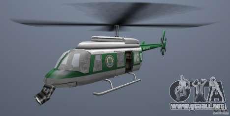 VCPD Chopper para GTA Vice City vista lateral izquierdo