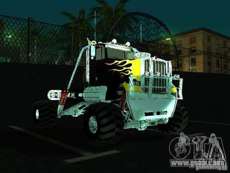 Kenworth W900 Monster para GTA San Andreas vista hacia atrás