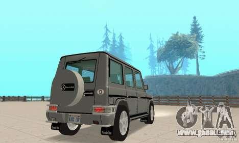 Mercedes-Benz G500 1999 v. 1.1 kengurâtnikom para GTA San Andreas left