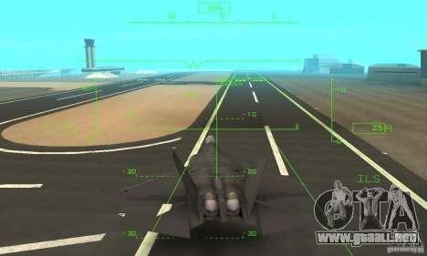 YF-22 Black para la vista superior GTA San Andreas