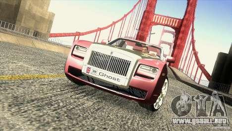 Rolls-Royce Ghost 2010 V1.0 para GTA San Andreas interior