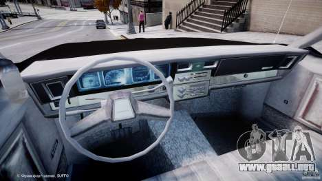 Chevrolet Impala Police 1983 [Final] para GTA 4 vista hacia atrás