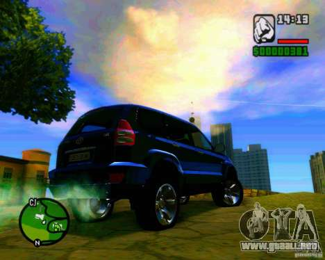 Toyota Land Cruiser Prado 120 para visión interna GTA San Andreas