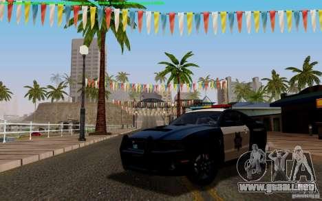Ford Shelby Mustang GT500 Civilians Cop Cars para visión interna GTA San Andreas