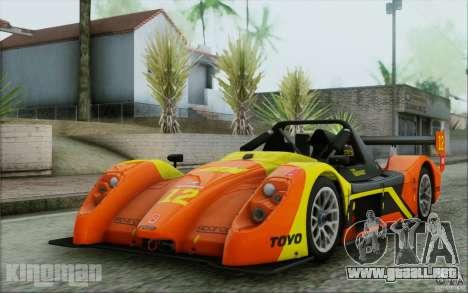 Radical SR3 RS 2009 para vista inferior GTA San Andreas