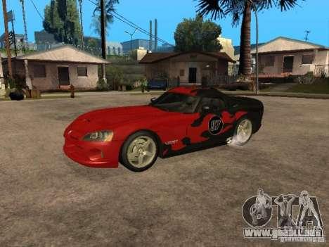 Dodge Viper para vista lateral GTA San Andreas