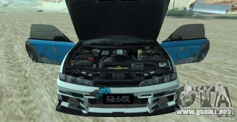 Nissan Silvia S14 NonGrata para GTA San Andreas vista posterior izquierda