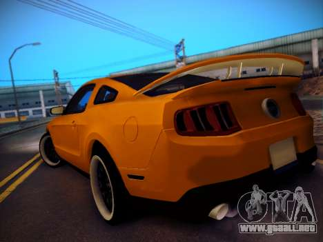 Ford Mustang GT 2010 Tuning para GTA San Andreas vista posterior izquierda