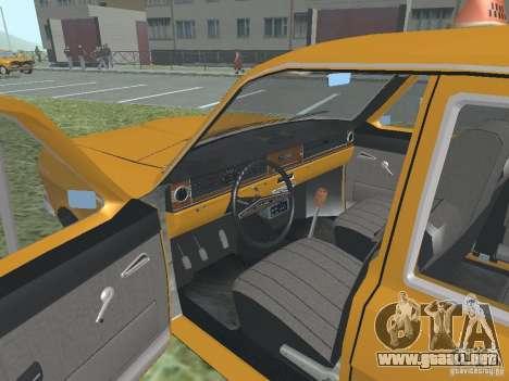 Taxi GAZ 24-01 para vista lateral GTA San Andreas