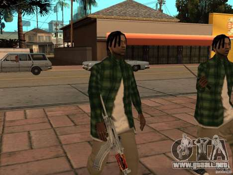 Pak versión doméstica armas 3 para GTA San Andreas quinta pantalla