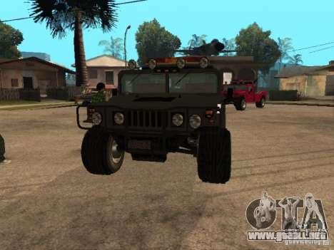Camioneta HUMMER H1 para GTA San Andreas vista hacia atrás