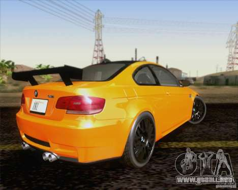 BMW M3 GT-S Fixed Edition para GTA San Andreas vista hacia atrás